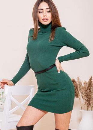 Платье-гольф, цвет зелёный