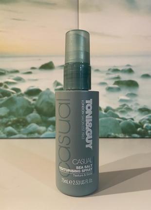 🏴 текстурирующий солевой спрей для укладки волос toni&guy casual sea salt texturising spray