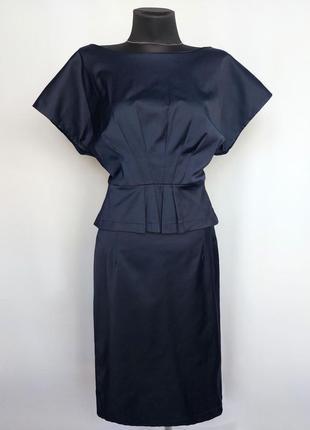 Суперцена. стильное платье, баска. турция. новое, р-ры 48-56