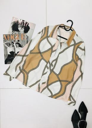 Элегантная воздушная блуза цепи в стиле ralph lauren  1+1=3 на всё 🎁