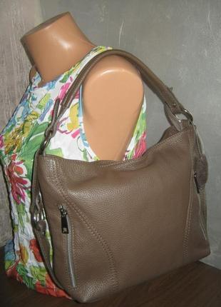 Италия 100% кожа сумка женская кожаная состояние новой вещи