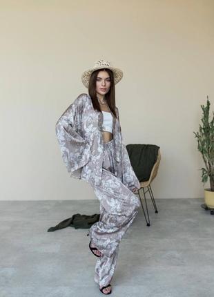 Костюм кимоно шёлковый