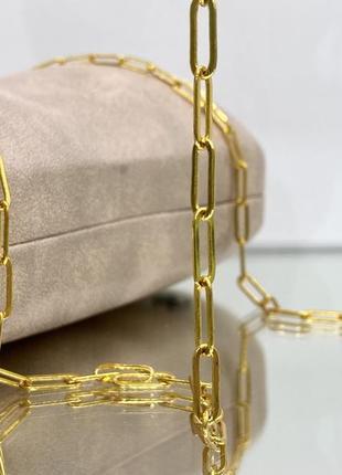 Золотистая цепочка для очков крупные звенья