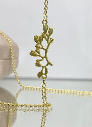 Женская цепочка для очков золотистая с декором по бокам