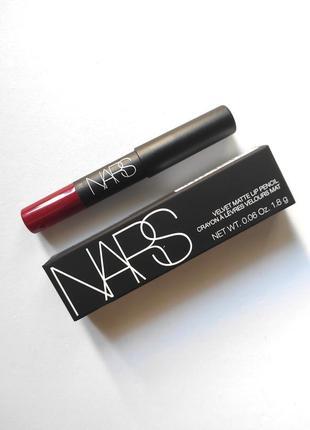 Помада-карандаш матовая nars velvet matte lip pencil1 фото