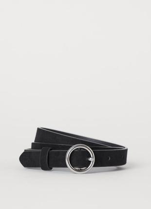 H&m новый фирменный узкий ремень пояс на талию с круглой пряжкой