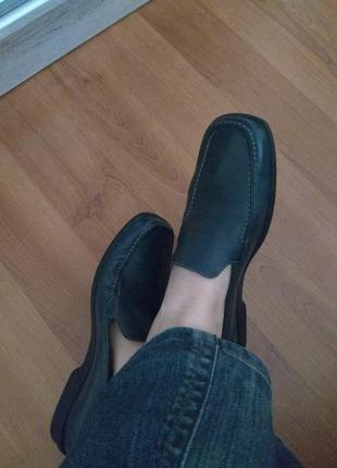 Туфли лоферы мокасины clarks 6/39 25,5-26см кожа натуральная.италия =стрит стайл