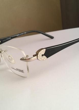 Фирменная безободковая оправа под линзы,очки оригинал gf.ferre gf430-01 новая2 фото
