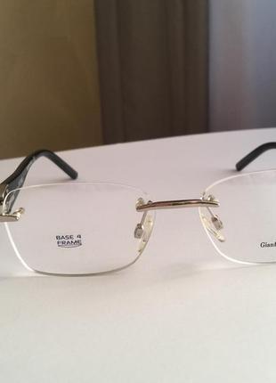 Фирменная безободковая оправа под линзы,очки оригинал gf.ferre gf430-01 новая4 фото