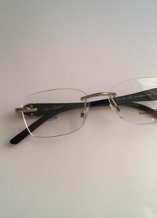 Фирменная безободковая оправа под линзы,очки оригинал gf.ferre gf430-01 новая6 фото