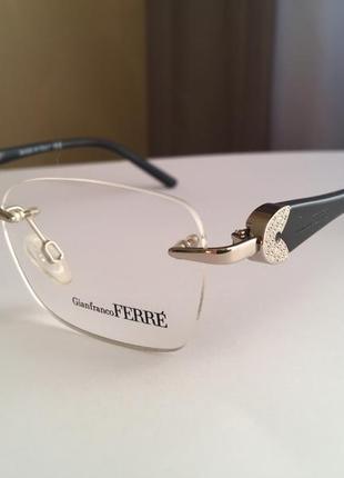 Фирменная безободковая оправа под линзы,очки оригинал gf.ferre gf430-01 новая3 фото