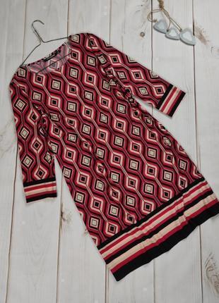 Платье красивое эластичное в ромбы uk 14/42/l