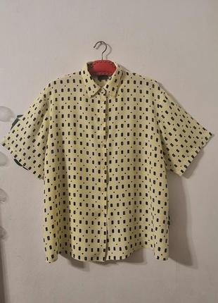 Винтажная рубашка в мелкий геометрический принт biaggini