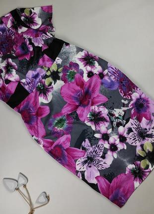 Платье футляр стрейчевое красивое в цветы marks&spencer uk 16/44/xl