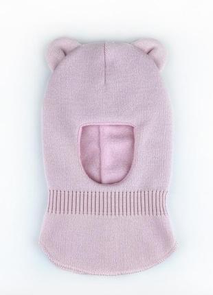 Шлем шапка с ушками мишки на флисе 42/44/46/48 топ зима 2021🔥