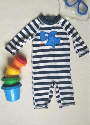 Детский солнцезащитный комбинезон для плавания, на малыша 9-12 месяцев/80 см