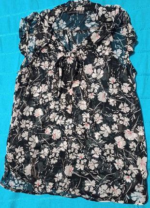 Легкая шифоновая блузка-туника