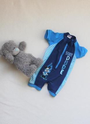Детский солнцезащитный комбинезон для плавания, на малыша 9-12 месяцев