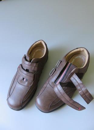 Мужские туфли trustule  на липучках и воздушной подушке.3 фото