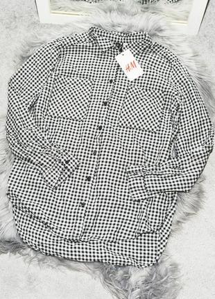 Новая оверсайз рубашка с карманами h&m