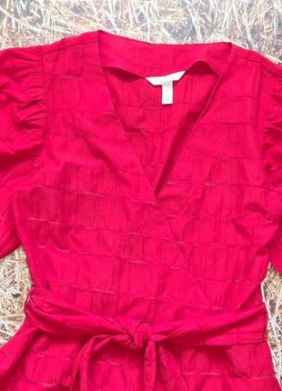 Новая легкая натуральная блуза h&m. размер 34, подойдет на 366 фото