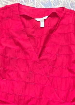 Новая легкая натуральная блуза h&m. размер 34, подойдет на 367 фото