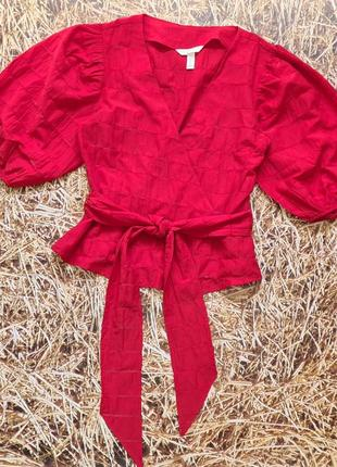 Новая легкая натуральная блуза h&m. размер 34, подойдет на 365 фото