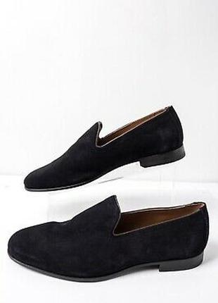 Zara мужские замшевые туфли лоферы 40 размер