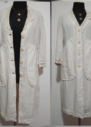 ,, фирменное льняное платье натуральный тренч накидка бохо 100% лён льон супер качество!!!