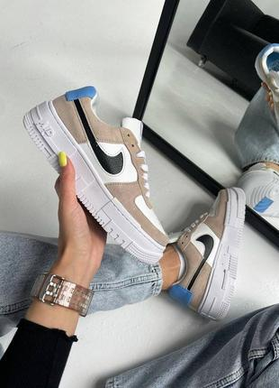 Nike air force shadow brown desert кроссовки найк женские форсы аир форс
