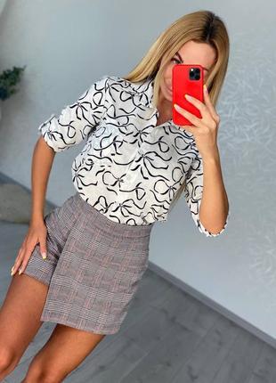 Женская мини юбка шортики на осень лето школа деловая в клеточку рубчик короткая длинная купить 2021