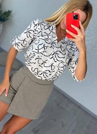 Женская юбка мини шортики новая купить на осень в школу универ деловая в клеточку короткая
