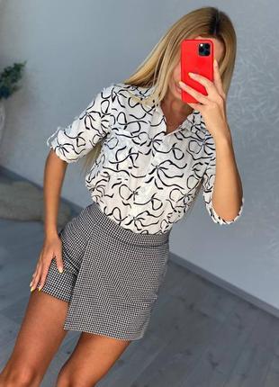 Женская юбка короткая мини на выход деловая клетка осень в школу на работу купить