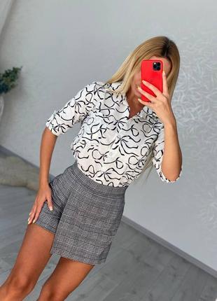 Женская юбка короткая мини длинная купить клетка строгая недорого