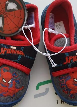 "Тапочки ""spider-man на застежке липучке от lupilu;"