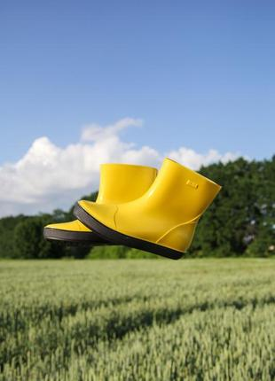 Улетные желтые женские сапожки алида