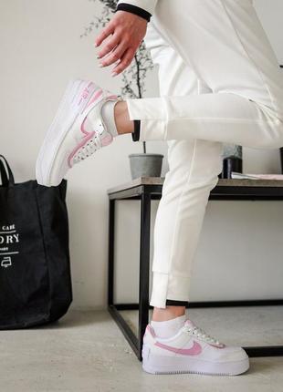Nike air force shadow pink кроссовки найк женские форсы аир форс кеды2 фото