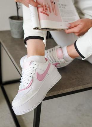 Nike air force shadow pink кроссовки найк женские форсы аир форс кеды3 фото