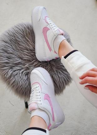 Nike air force shadow pink кроссовки найк женские форсы аир форс кеды7 фото