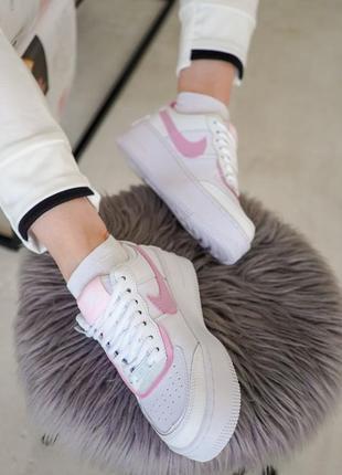 Nike air force shadow pink кроссовки найк женские форсы аир форс кеды5 фото