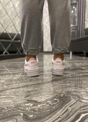 Кроссовки найк женские обувь nike air force shadow pink форсы аир форс кеды4 фото