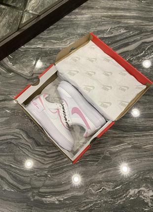 Кроссовки найк женские обувь nike air force shadow pink форсы аир форс кеды7 фото