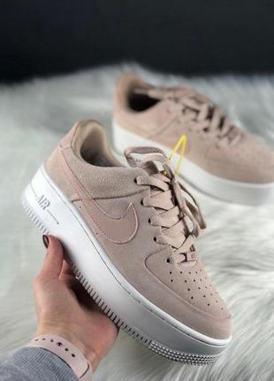 Nike air force shadow sage platform beige
