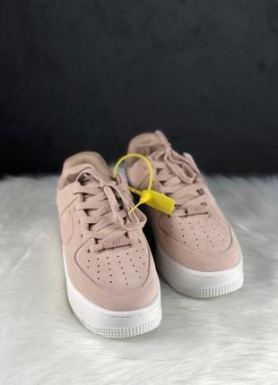 Nike air force shadow sage platform beige2 фото