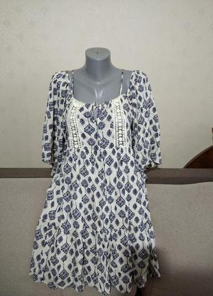 Натуральное легчайшее платье glamorous uk8, евро 36, наш 42/44, можно на 46