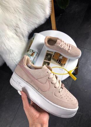 Nike air force shadow sage platform beige кроссовки найк женские форсы аир форс кеды