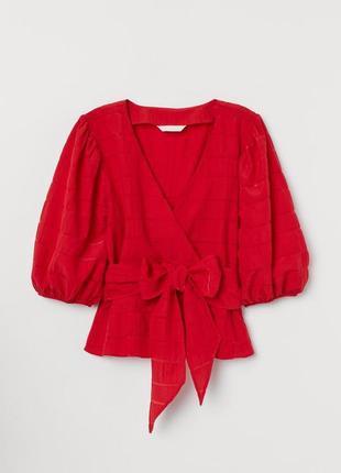 Новая легкая натуральная блуза h&m. размер 34, подойдет на 36