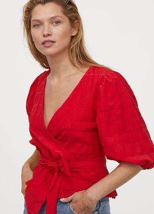 Новая легкая натуральная блуза h&m. размер 34, подойдет на 362 фото