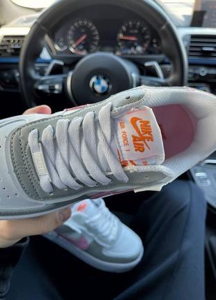 Найк женские форсы аир форс кеды кроссовки nike air force shadow grey pink6 фото