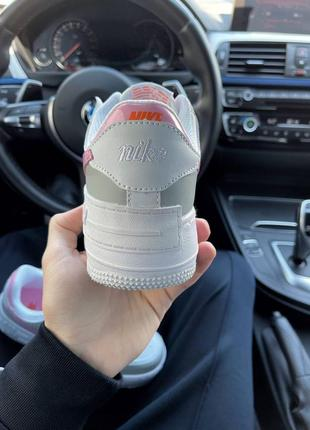 Найк женские форсы аир форс кеды кроссовки nike air force shadow grey pink5 фото